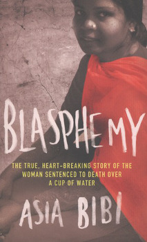 The book cover of Blasphemy, by Asia Bibi.