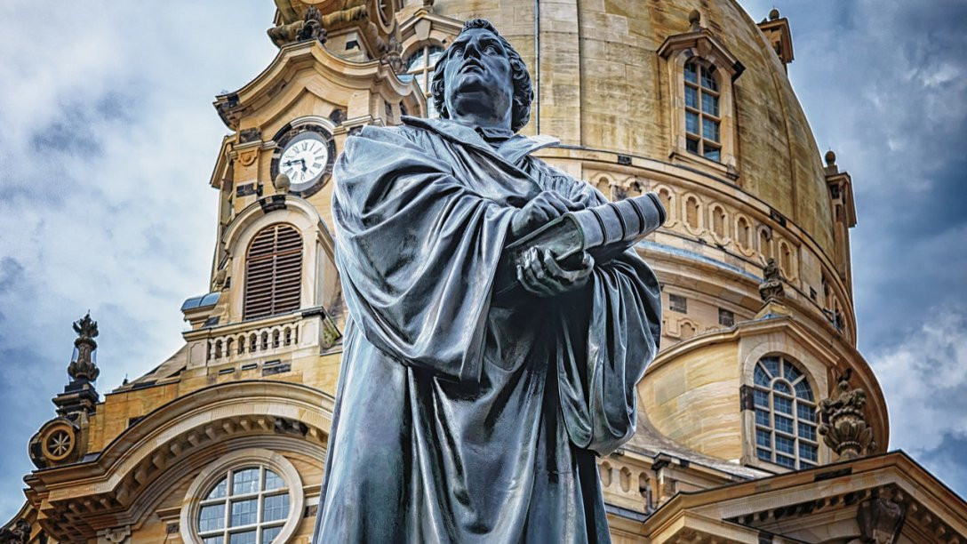 A Statue of Martin Luther from Dresden, Germany.